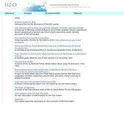 H2O Project - Ideas