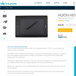 Huion H610pro graphic drawing tablet
