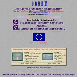 HA8ET ( Gyula Nagy ) Home Page