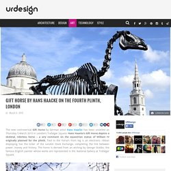 Gift Horse by Hans Haacke on the Fourth Plinth, London — urdesignmag