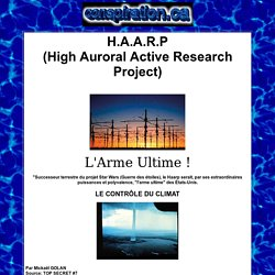 HAARP, L'ARME ULTIME
