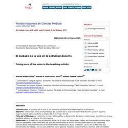 Revista Habanera de Ciencias Médicas - El cuidado de la voz en la actividad docente