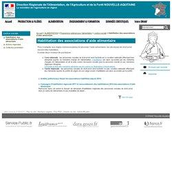 DRAAF NOUVELLE AQUITAINE - Habilitation des associations d'aide alimentaire