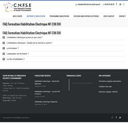 FAQ Formation Habilitation Electrique NF C18-510