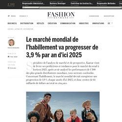 Le marché mondial de l'habillement va progresser de 3,9 % par an d'ici 2025 - Actualité : distribution (#1182400)