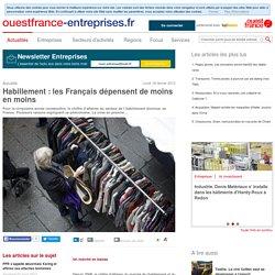 Habillement: les Français dépensent de moins en moins