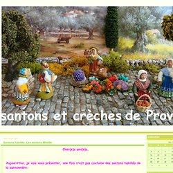 Santons habillés: Les santons Mireille - Santons et crèches de Provence