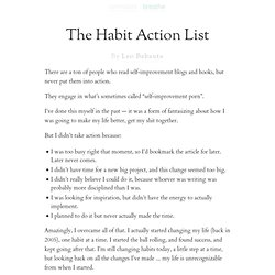The Habit Action List
