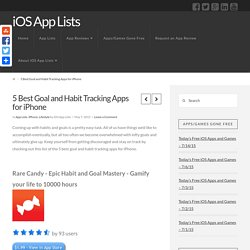5 Best Goal and Habit Tracking Apps for iPhone - iOS App Lists