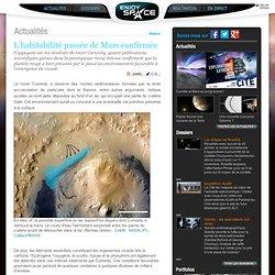 Enjoy Space : L'habitabilité passée de Mars confirmée