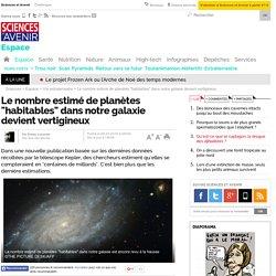 """Le nombre estimé de planètes """"habitables"""" dans notre galaxie devient vertigineux- 6 février 2015"""
