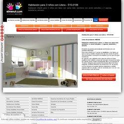 Habitación para 3 niños con Litera - 515-0106