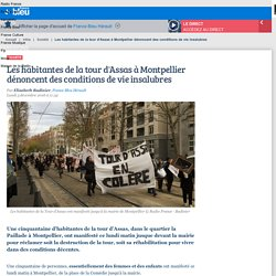 Les habitantes de la tour d'Assas à Montpellier dénoncent des conditions de vie insalubres
