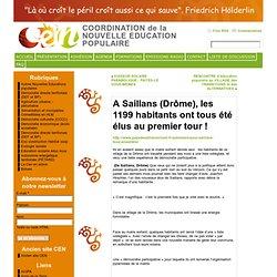 A Saillans (Drôme), les 1199 habitants ont tous été élus au premier tour ! « COORDINATION de la NOUVELLE EDUCATION POPULAIRE