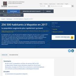 256500habitants à Mayotte en 2017 - Insee Focus - 105