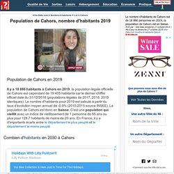 Nombre d'habitants Cahors 2019 population évolution