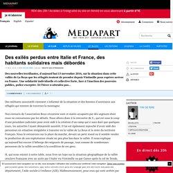 """Blog """"Droits des étrangers"""" - Médiapart (17/11/2016)"""