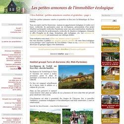 Eco-habitat : petites annonces courtes et gratuites - page 1