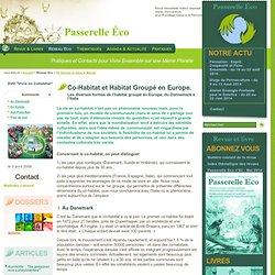 Co-Habitat et Habitat Groupé en Europe. - Les diverses formes de l habitat - En Europe et dans le Monde