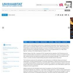 Habitat III – UN-Habitat