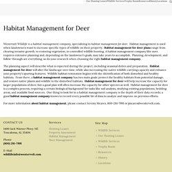 Habitat Management Company for Deer Management