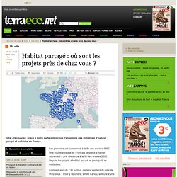 Habitat partagé : où sont les projets près de chez vous ?