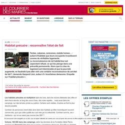 Habitat précaire : reconnaître l'état de fait. In : Courrier des Maires. Kis Martine.