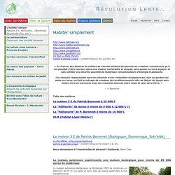 L'habitat simple