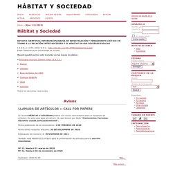 Hábitat y Sociedad