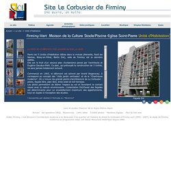 """Untié d'Habitation. Appartements le Corbusier réalisés à l'échelle du """"modulor""""."""