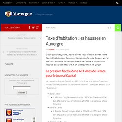 Taxe d'habitation : les hausses en Auvergne