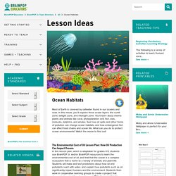 Ocean Habitats Lesson Plans and Lesson Ideas