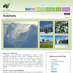 Habitats - Reference - A-Z Animals