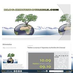 """""""Habiter 10.09-09.10"""" Exposition au Pavillon de l'Arsenal"""