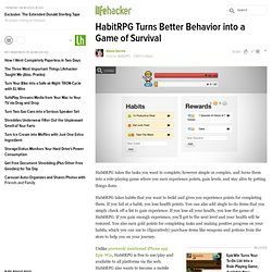 HabitRPG Turns Better Behavior into a Game of Survival