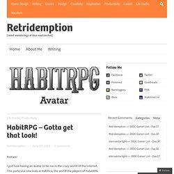 HabitRPG – Gotta get that look!