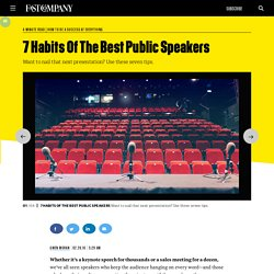 7 Habits Of The Best Public Speakers