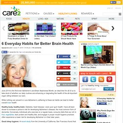 6 Every Day Habits for Better Brain Health