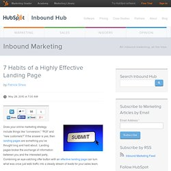 7 Habits of a Highly Effective Landing Page