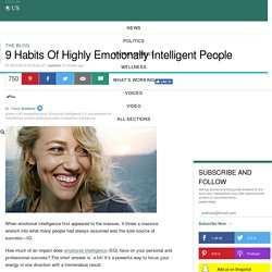 9 Habits Of Highly Emotionally Intelligent People