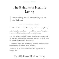 » The 8 Habits of Healthy Living