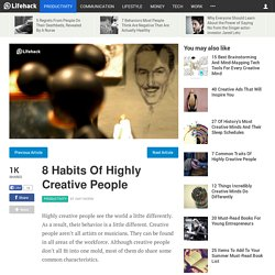 8 Habits Of Highly Creative People
