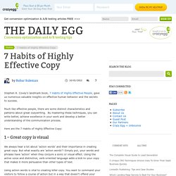 7 Habits of Highly Effective Copy