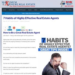 7 Habits of Highly Effective Real Estate Agents