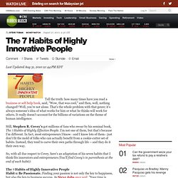 The 7 Habits of Highly Innovative People | BNET