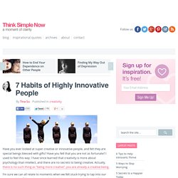 7 Habits of Highly Innovative People