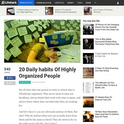 20 Daily habits Of Highly Organized People