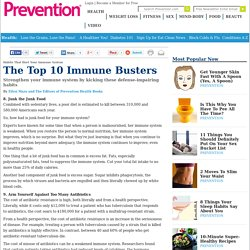 Habits That Hurt Your Immune System