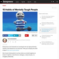 15 Habits of Mentally Tough People