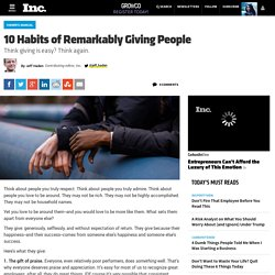 10 Habits of Remarkably Giving People